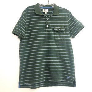 Gant Mens Green Striped Polo Shirt
